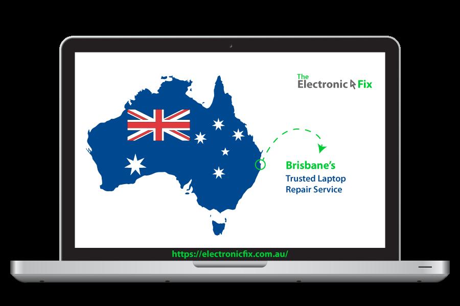 Australian Flag inside a Laptop Device illustration