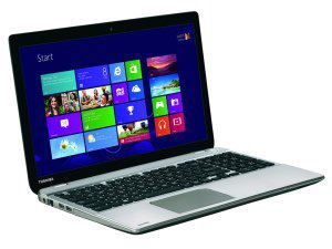 Toshiba laptop with Windows interface