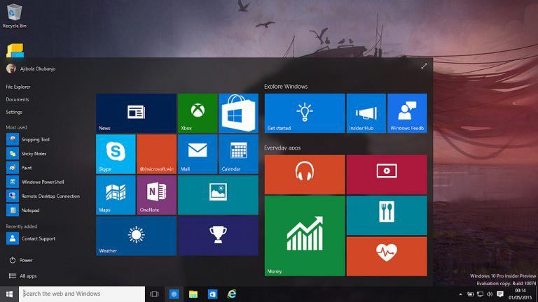 Windows 10 interface on a laptop screen