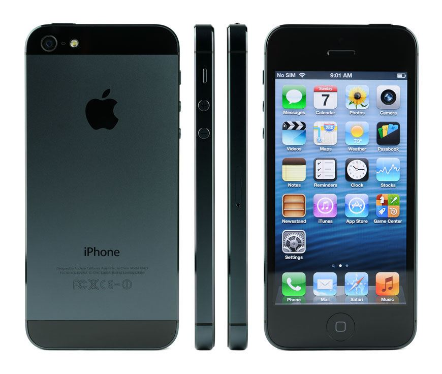 apple iPhone 5 front back and side view