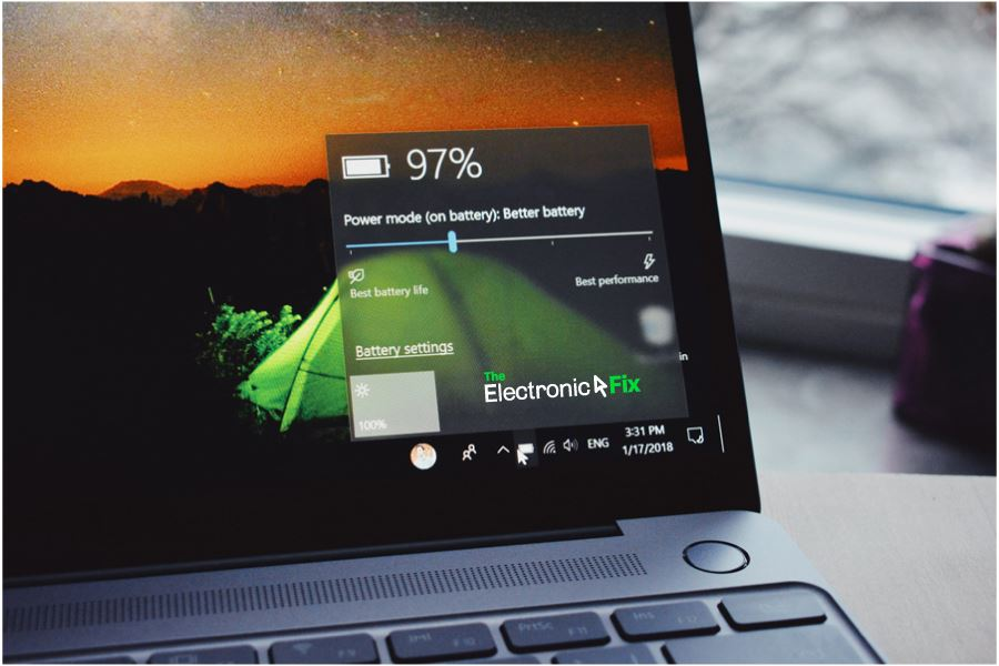 laptop battery options Windows 10