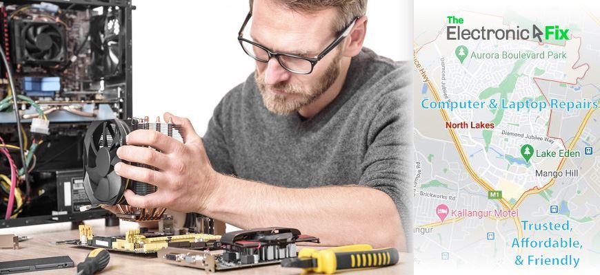 computer technician installing parts