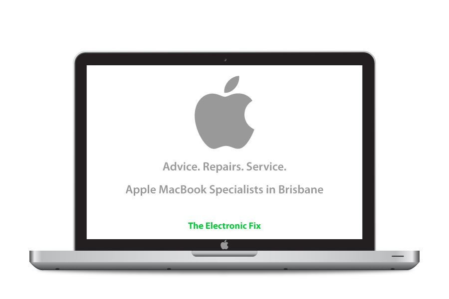illustration of Apple MacBook laptop and Apple logo