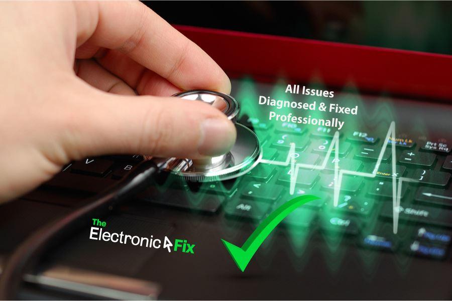 laptop computer diagnosis by a computer technician