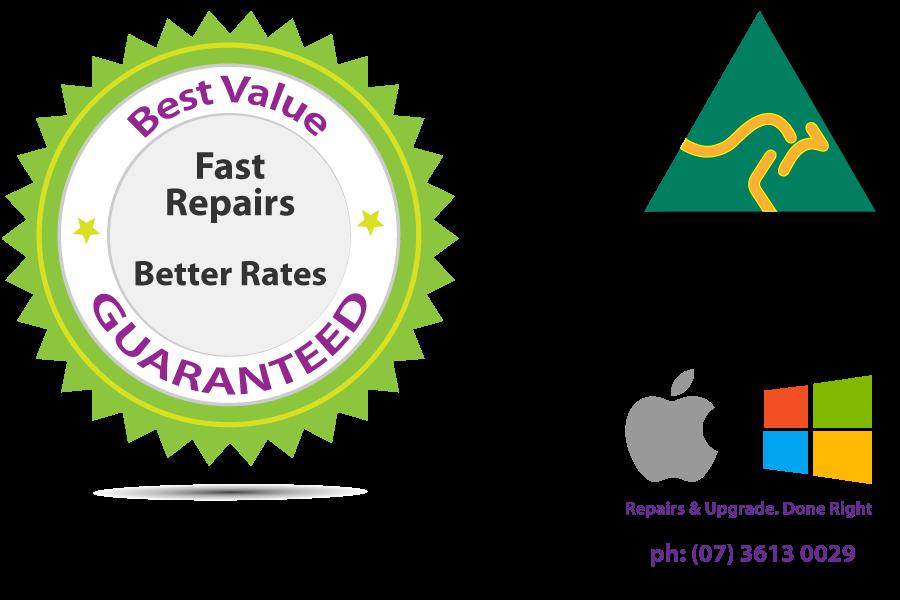 service quality Guarantee emblem and Australian Made logo